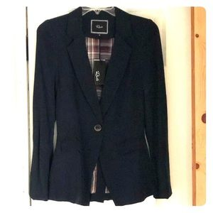 NWT Rails Navy Blue Blazer with elbow patches